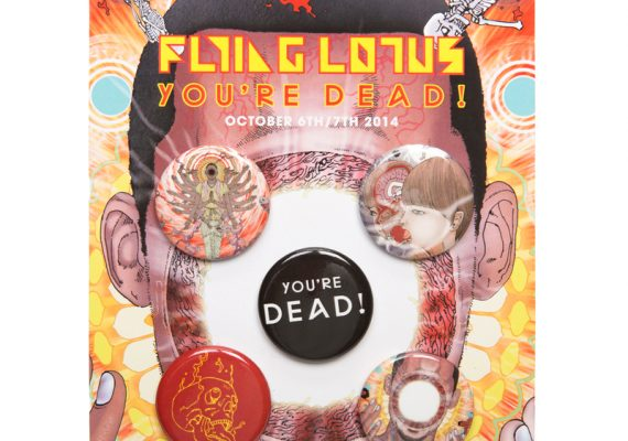 Flying Lotus You're Dead Button Pack