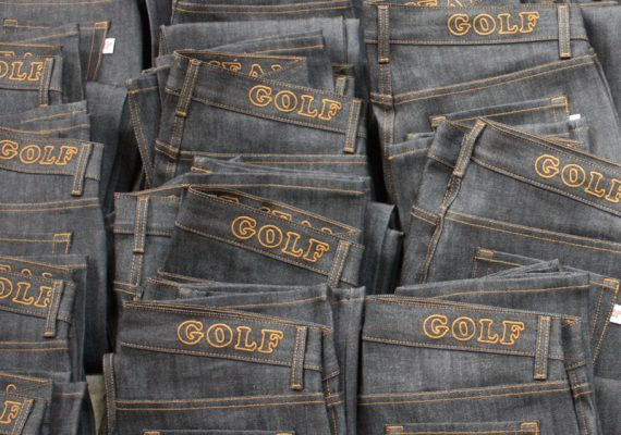 Golfwang: GOLF Raw Denim Jeans