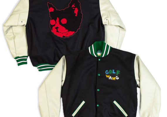 Golfwang: Custom Letterman Jacket with Chenille Appliqué