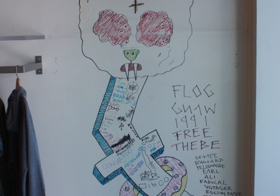 Artwork by Tyler, The Creator at Odd Future Retail Store (Interior)