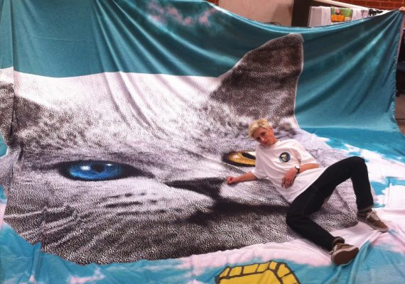 Odd Future: OFWGKTA Tour Backdrop (Shark Cat)