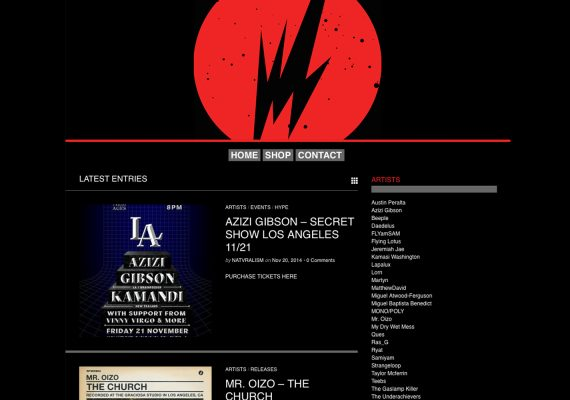 BrainFeeder Website: Homepage
