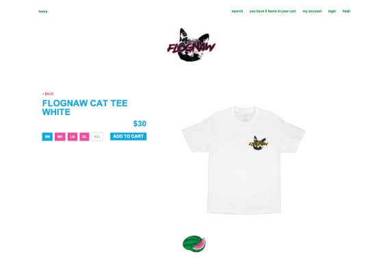 Golfwang Website: Product Detail Feature