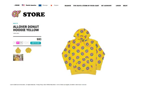 Odd Future Website: Product Detail