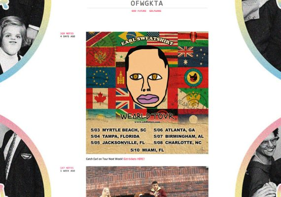 Odd Future Website: Blog Feature (Tumblr)