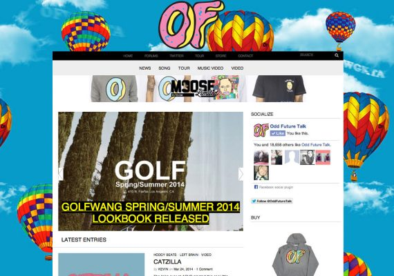 Odd Future Talk Website: Homepage