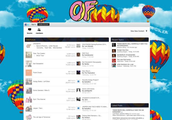 Odd Future Talk Website: Fan Forums – Message Boards